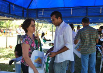 Campanha para o uso de sacolas recicláveis Parque da Cidade-DF